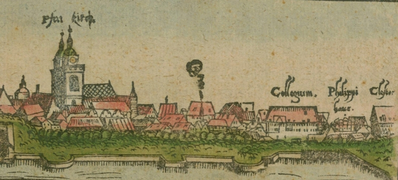 View of Wittenberg with the Melanchthon House (Philippi Haus), 1556