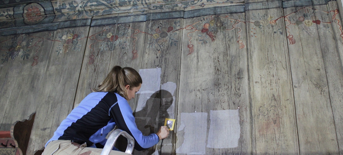 Conservation work in the Lutherstube