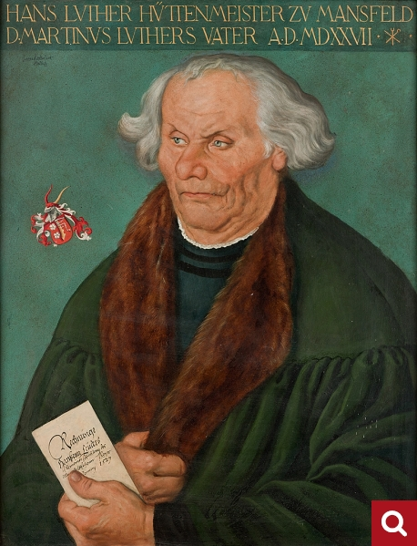 Hans Luder as a businessman, 1930s copy of a painting by Lucas Cranach the Elder