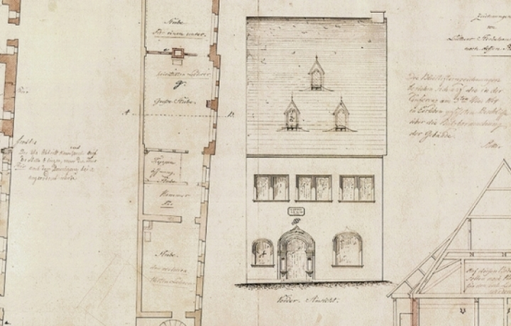 Plans for the Death House before the Renovation, 1863