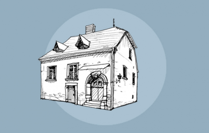 illustration of luther's parents' home