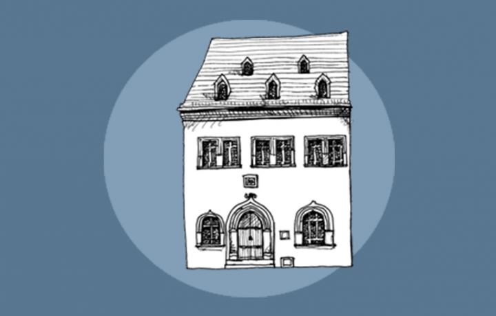 illustration of luther's death house
